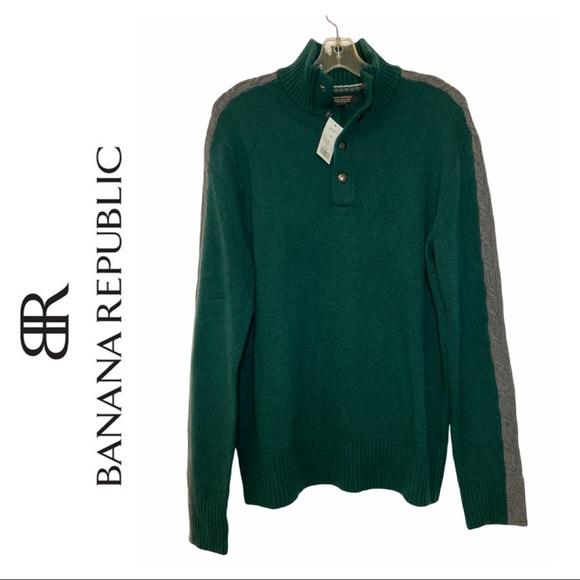 Banana Republic Green Merino Wool Blend Sweater